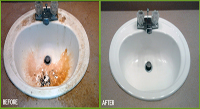 Before & After Chaotic Condition Sink