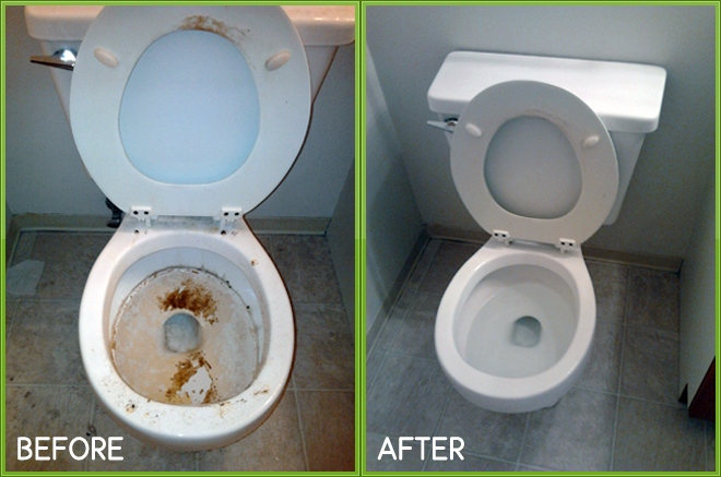 Before & After Chaotic Condition Toilet