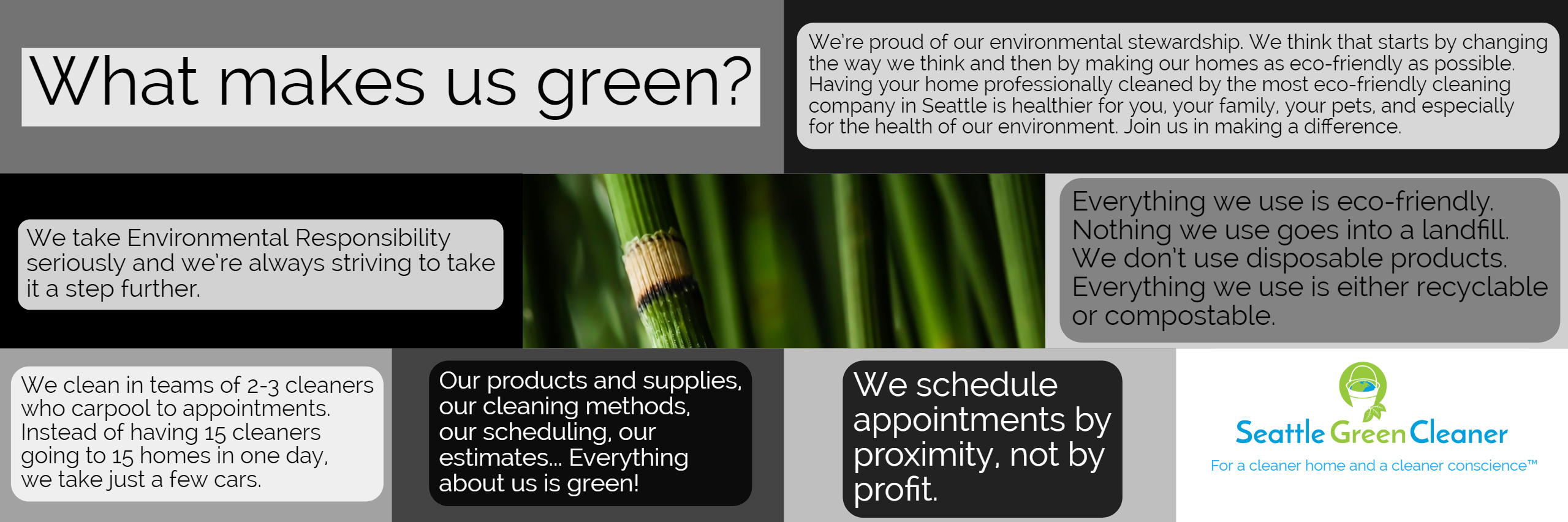 What makes us green