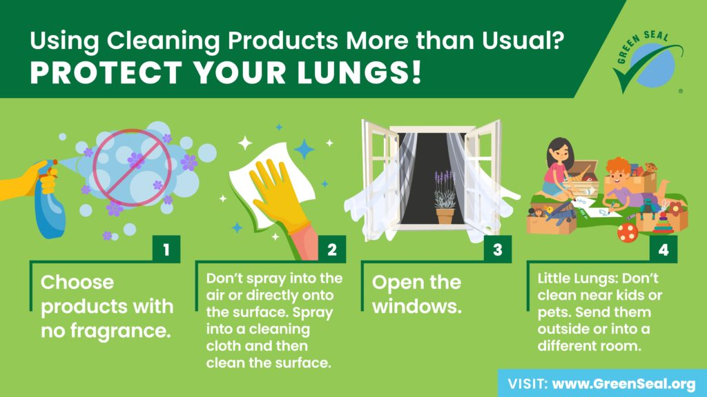 Green Seal Protect Your Lungs Graphic