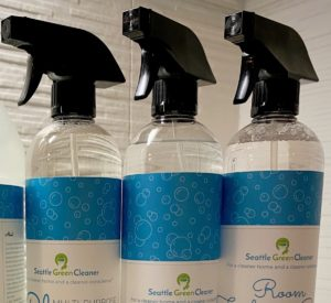 The Clean Home Starter Set includes one 24 oz bottle each of Multi-Purpose Cleaner, Glass Cleaner, and Room Freshening Spray